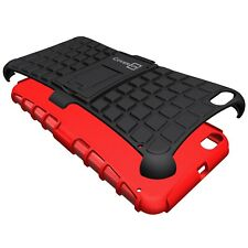 for HTC One X9 Case - Red / Black Dual Layer Kickstand Phone Armor