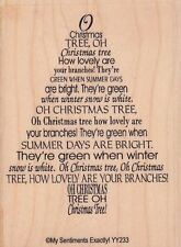 "xmas tree poem unbranded Wood Mounted Rubber Stamp 4x 3""  Free Shipping"