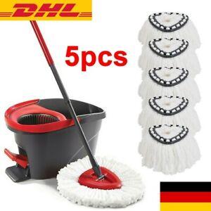 5 x EasyWring & Clean TURBO Nachfüll Moppkopf Ersatzkopf für Vileda Wischmop Neu