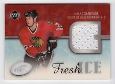 2005-06 NHL Upper Deck ICE Fresh Ice Jersey Insert # FI-BS Brent Seabrook