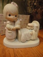 Precious Moments Figurine Make Me A Blessing 1986 100102 Honey and Sick Bear MIB