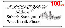100 Personalised return address label mailing sticker 56x25mm architecture