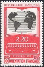 FRANCIA 1985 servizio di informazione/computer/BOOK/World Map 1 V (n44210)