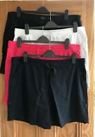 NEXT New Navy Blue Black White Pink Linen Blend Roll-Up Shorts Plus Size 20 - 28