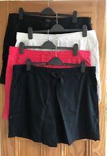 NEXT New Navy Blue Black White Pink Linen Blend Roll-Up Shorts Plus Size 20 - 28