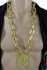 Men Fashion Necklace Gold Metal Chunky Chain Thick Link Long Hip Hop Jewelry NYC
