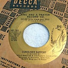 45RPM MIX026 Consumer Rapport Go On With Your Bad Self / Ease On Down The Road
