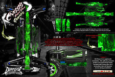 TRAXXAS E-REVO SUMMIT CHASSIS 'HELL RIDE' HOP UP GRAPHICS FITS OEM PARTS GREEN