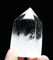 Natural Pure Clear Quartz Crystal Tower Obelisk wand Point Reiki Healing  128g