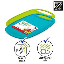 More details for set of 2 oval plastic chopping board strong non slip kitchen food cutting boards