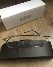 Silhouette Optical Frames 5500/BI 9040 49/19 Dynamics Colorwave Black Eyeglasses