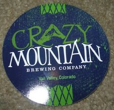 CRAZY MOUNTAIN BREWING CO mountain livin STICKER craft beer brewery decal
