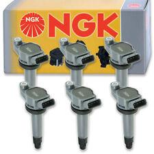 6 pcs NGK Ignition Coil for 2004-2010 Toyota Highlander 3.3L V6 - Spark Plug vi