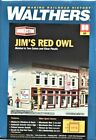 HO Scale Walthers Cornerstone 933-3472 Jim's Red Owl Grocery Store Kit