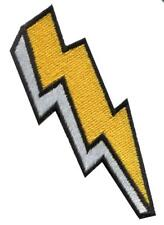 Lightning bolt strike storm zap diy embroidered applique iron-on patch S-1599