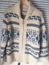 Vintage Pendleton Lebowski High Grade Western Wear Full Zip Wool Cowichan USA XL