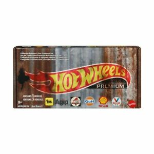 New Hot Wheels Premium Collector Edition 5-Car Set Christmas Gift For Kids T