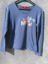 T SHIRT MANCHES LONGUES BLEU ♥ MARITHE FRANCOIS GIRBAUD ♥ T 8 ANS TBE +++ ☺