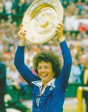 Billie Jean King HAND SIGNED 8x10 Photo, Tennis Wimbledon Champion, Battle of C