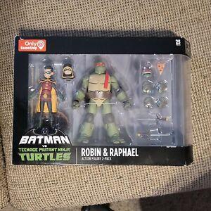 DC Batman vs Teenage Mutant Ninja Turtles Robin & Raphael Action Figure 2-Pack