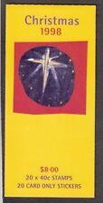 Australie 1998  Kerstmis  postzegelboekje   zelfklevend    postfris/mnh