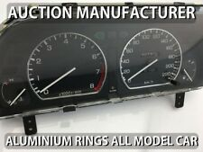 MG MGF  MG TF 95-05 Chrome Cluster Gauge Dashboard Rings Speedo Trim Instrument