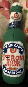 Lucy Sparrow Mart 2018 Peroni Beer Bottle Signed Felt Handmade Mint NEW RARE