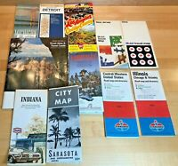 Lot of 11 Vintage Road Maps 1960s & 1970s: Mobil, Texaco, Standard Oil