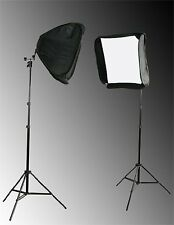 Fancierstudio 2 x 24 inch Softbox for Speedlight and Flash with Stand-SB1009 ...
