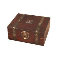 Decorative Trinket Jewelry Storage Box Handmade Vintage Wooden Treasure Case JMS