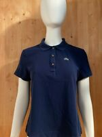LACOSTE Made In Peru Adult T-Shirt Tee Shirt Size 46 Dark Blue Polo Crocodile