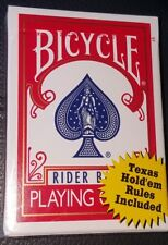 Bicycle Rider Back Poker 808 Single Deck Playing Cards With Texas Hold'em Rules!