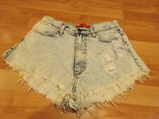 Ladies Juniors Size M Medium AKIRA CHICAGO RED LABEL Jean Shorts Short Stretch