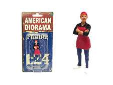 FOOD TRUCK CHEF GLORIA FIGURE FOR 1/24 SCALE MODELS BY AMERICAN DIORAMA 38442