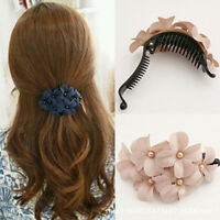 SEESTERN Bali Hawaii Haarklammer 2 Frangipani Blüten aus Moosgummi Haarspange W