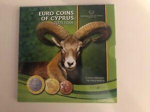 EURO COIN SET CHYPRE 2021=PIECES DE 1 CENT A 1 EURO