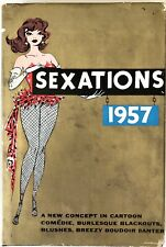 Sexations 1957 - Adult Burlesque Cartoon Comédie PRISTINE H/C First Edition 1957