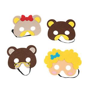 Goldilocks and the Three Bears Story Masks in Felt