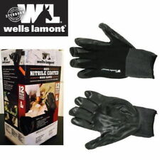 12 New Pairs Wells Lamont Men's Nitrile Coated Work Gloves Size Large