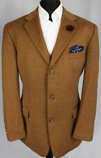 Loro Piana Blazer Jacket Camel Brown BOSS Designer 46L WOOL & CASHMERE 3045