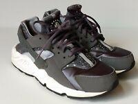 Women's NIKE AIR HUARACHE RUN PRINT Grey Running Shoes Sz 7.5 725076-005