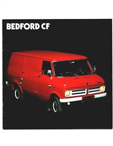 Bedford CF Van Pick Up  Brochure 12 Page circa 1975 French France