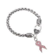 Breast Cancer Awareness Pink Ribbon Jewelry, Prink Ribbon Bracelet, Awareness