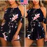 Fashion Women Lady Summer Off Shoulder Ladies Jumpsuit Romper Floral Playsuit US