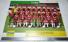 CLIPPING POSTER FOOTBALL 1990-1991 FC METZ LORRAINE SAINT-SYMPHORIEN GRENATS