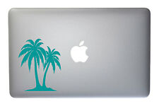 Tropical Palm Trees - 5 Inch Turquoise Vinyl Decal for Macbook, Laptop