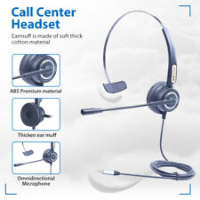 Wired 3.5mm Headphones Call Center Meeting PC Laptop Headset Anti-noise Boom Mic