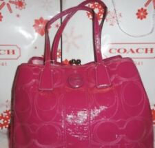 Coach pink patent leather bag