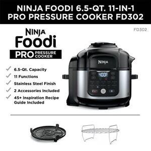 New Ninja Foodi 11-in-1 6.5-qt. Pro Pressure Cooker & Air Fryer FD302
