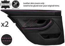 Pink Stitch Arrière 2X complet porte carte en cuir couvre Fits BMW 5 Series E39 95-03
